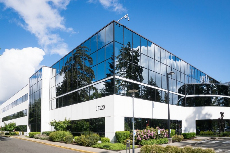 commercial property in a business park
